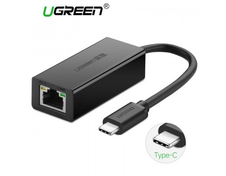 USB Type-C Ethernet адаптер 100 Мбит/с LAN RJ45 Ugreen (UG-30287)