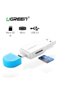 Картридер USB + Micro USB OTG Ugreen Поддержка карт до 128 Гб (UG-30358)