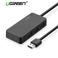 Внешняя звуковая карта + активный хаб USB 3.0 Ugreen 30421
