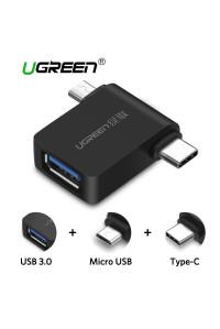 Переходник OTG USB 3.0 Type-C Micro USB Ugreen 30453