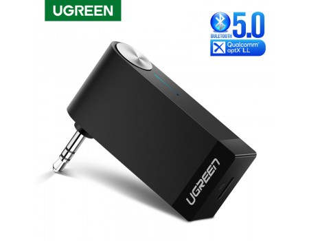 Ugreen Bluetooth 5.0 aptX LL адаптер для автомобиля с микрофоном Hands Free (UG-40757)