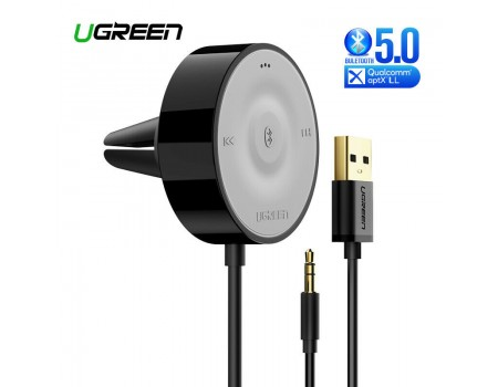 Ugreen Bluetooth 5.0 адаптер для авто HI-FI aptX Low Latency AUX Hands Free приемник (UG-40760)