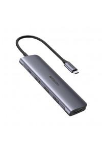 USB Hub для Macbook 5-в-1 Ugreen Type-C HDMI 4K 100W PD USB 3.0*3