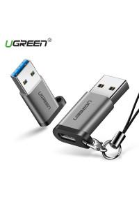 Переходник Type-C USB 3.0 Ugreen алюминий, брелок (UG-50533)