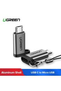 Переходник Type-C Micro USB Ugreen алюминий, брелок (UG-50590)
