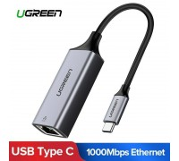 USB C Ethernet Gigabit адаптер RJ45 LAN 1000 Мбит/с USB 3.1 Ugreen (UG-50737)