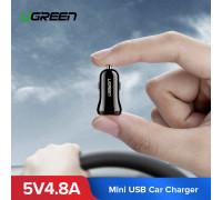 Автомобильное зарядное устройство для телефона USB 4.8А 24W UGREEN