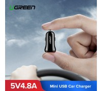 Автомобильное зарядное устройство для телефона USB UGREEN 4.8А 24W ED018 (50875)