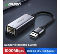 Сетевой адаптер Ugreen USB Ethernet Gigabit 1000 Мбит/c USB 3.0 LAN RJ45 (UG-50922)