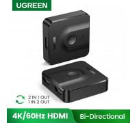 Двунаправленный HDMI сплиттер, переключатель 2 в 1 Ugreen 4K 60Hz 3D (UG-50966)