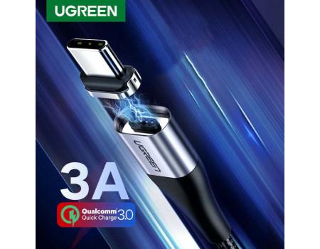 Магнитный кабель USB Type-C для быстрой зарядки Ugreen 3A 1 м