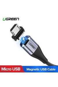 Магнитный кабель Micro USB для быстрой зарядки Ugreen 2.4A 1 м
