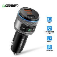 FM трансмиттер автомобильный Bluetooth transmitter Quick Charge 3.0 Ugreen (UG-60283)