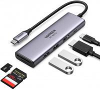 USB-хаб для MacBook 6-в-1 USB-C PD 100W HDMI 4K-60Hz HDR Card Reader SD/MicroSD USB 3.0 Ugreen