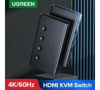 KVM переключатель на 4 компьютера Ugreen Switch HDMI USB 4K@60Hz HDR 3D