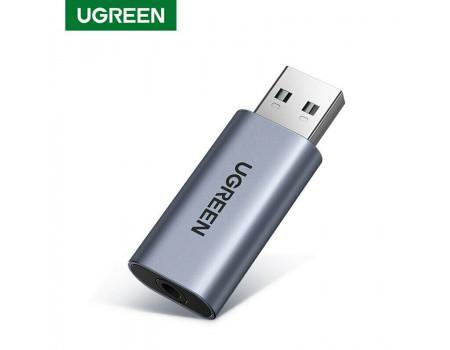 Звуковая карта Ugreen 2 в 1 USB AUX OTG OMTP/CTIA (UG-80864)