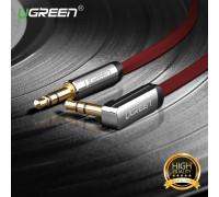 Кабель аудио AUX 3.5 mm 3.5 mm 90° UGREEN AV119 RD