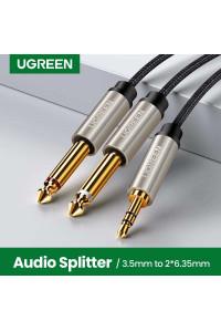 Аудио кабель 6.3 3.5 мм TRS TS Hi-Fi Ugreen Gray (UG-AV126)