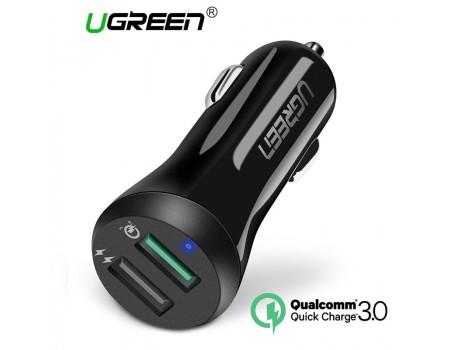 Автомобильное зарядное устройство UGREEN CD114 30W Quick Charge 3.0