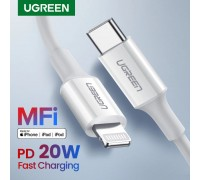 Кабель MFI Lightning Type C Ugreen для iPhone iPad PD 20W 1 м (US171)