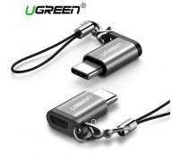 Переходник Micro USB Type-C OTG, алюминий, брелок Ugreen US189 (40945)