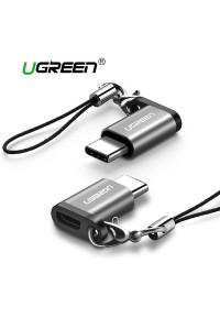 Переходник Micro USB Type-C OTG, алюминий, брелок Ugreen (UG-40945)