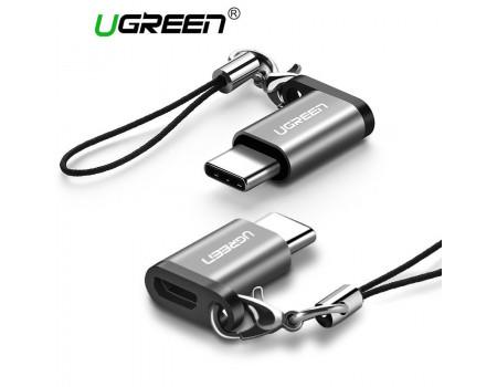 Переходник Micro USB Type-C OTG, алюминий Ugreen (UG-40945)