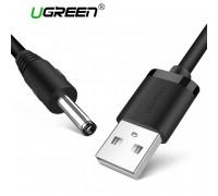Кабель USB DC 3.5*1.35 мм 2A UGREEN US277-BK (10376) 1 м