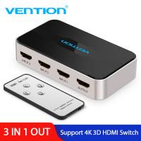 HDMI переключатель сплиттер 4K 3D Vention 3 в 1 (AFFH0)