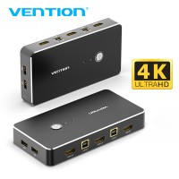KVM переключатель USB HDMI Switch Vention для 2 компьютеров