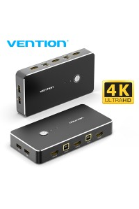 KVM переключатель USB HDMI Switch Vention для 2 компьютеров