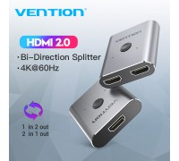 Двунаправленный HDMI 2.0 переключатель сплиттер 2 в 1 Vention 4K@60Hz (AFUH0)