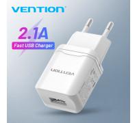 Сетевое зарядное устройство USB 5V 2.1A 10.5W Vention (White)