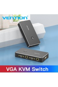 KVM переключатель USB VGA Switch Vention для 2 компьютеров