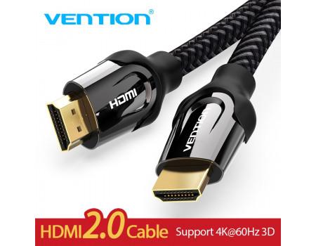 Кабель HDMI 2.0 Vention 4K HDR 3D (VAAB05-BK)