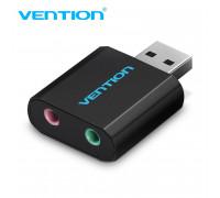 Внешняя звуковая карта USB AUX Vention VAB-S17-BK