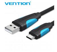 Кабель для быстрой зарядки USB Type-C Vention VAS36-B025 3А 20 см