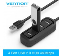 Хаб USB 2.0 Vention VASJ43-BK