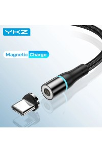 Магнитный кабель Type-C для зарядки YKZ Black